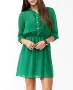 Forever 21 Green ruffled dress on Community at Forever 21
