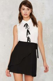Forever Bow Collared Blouse at Nasty Gal