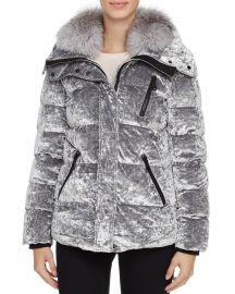 Fox Fur Trim Velvet Down Coat by Andrew Marc at Bloomingdales