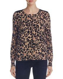 Foxcroft Leopard Print Cardigan at Bloomingdales