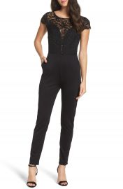 Fraiche by J Crepe   Lace Jumpsuit at Nordstrom