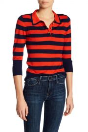 Frame Denim   Rugby Stripe 3 4 Length Sleeve Sweater   Nordstrom Rack at Nordstrom Rack