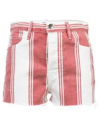 Frame Denim Striped Fitted Shorts at Farfetch