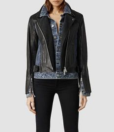 Frame Leather Biker Jacket at All Saints