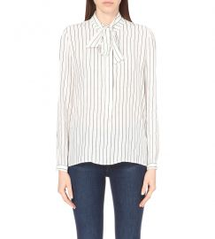 Frame silk stripe shirt at Selfridges