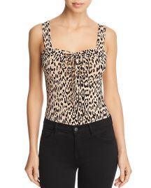 Franchesca Lace-Up Leopard Print Bodysuit at Bloomingdales