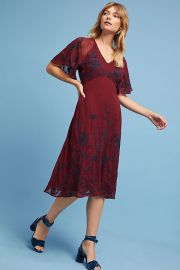 Francoise Embroidered Dress by Anthropologie at Anthropologie