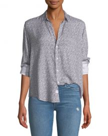 Frank  amp  Eileen Ditsy Floral Button-Down Top at Neiman Marcus