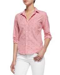 Frank and Eileen Barry Anchor-Print Check Shirt at Neiman Marcus