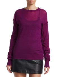 Frayed Cashmere Pullover Sweater at Saks Off 5th