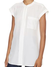 Frayed Placket Blouse by Vince at Intermix