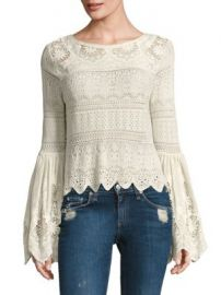 Free People - Once Upon A Time Bell Sleeve Top at Saks Fifth Avenue