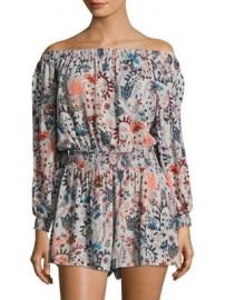 Free People - Pretty and Free Off-the-Shoulder Floral Romper at Saks Fifth Avenue