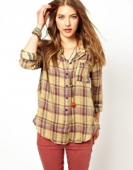 Free People  Free People Plaid Buttondown Shirt at Asos
