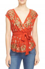 Free People  Ooh La La  Embellished Surplice Top at Nordstrom