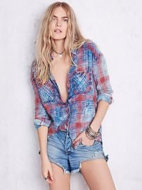 Free People  Plaid Shirt at Free People