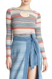 Free People  Sunshine Dreamer  Stripe Keyhole Sweater at Nordstrom