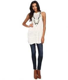 Free People Adella Mock Neck Party Top Ivory at 6pm