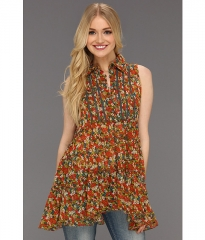 Free People After Dark Garden Tunic Tomato Combo at 6pm
