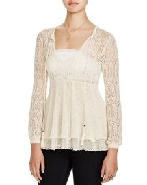 Free People Angel Days Knit Top in Antique at Bloomingdales