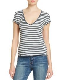 Free People Avery Striped Tee in Navy at Bloomingdales