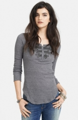 Free People Battalion Embellished Thermal Top at Nordstrom