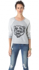 Free People Big Bad Varsity Sweatshirt in grey at Shopbop
