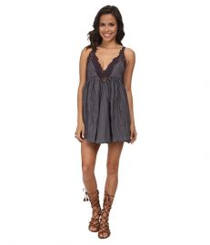 Free People Breathless Mini Dress Slate at 6pm