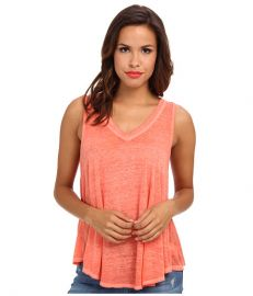 Free People Breezy Tank Sunrise Red at 6pm