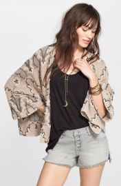 Free People Butterfly Sleeve Kimono Cardigan at Nordstrom