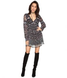 Free People Cherry Blossom Mini Dress Black Combo at 6pm