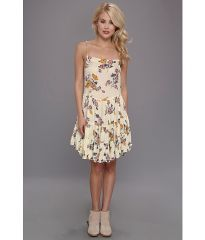 Free People Circles Of Flowers Printed Slip Ivory Combo at 6pm