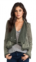 Free People Collapsing Twill Jacket in Military  REVOLVE at Revolve