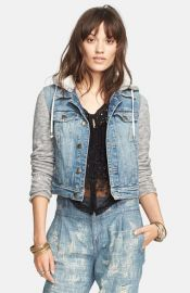 Free People Denim andamp Knit Jacket at Nordstrom