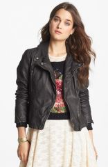 Free People Distressed Faux Leather Moto Jacket at Nordstrom