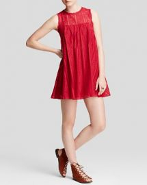 Free People Dress - Tu Es La Mini in Red at Bloomingdales
