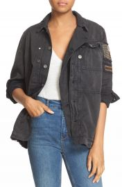 Free People Embellished Military Shirt Jacket at Nordstrom
