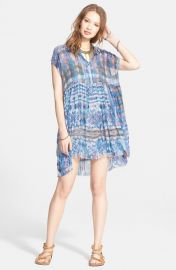 Free People Extreme Shirtdress in Marine at Nordstrom