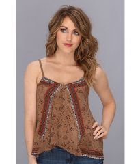 Free People FP One Print Tank Taupe Combo at 6pm