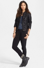 Free People Faux Leather Military Jacket at Nordstrom