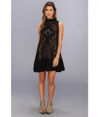 Free People Fp 1 Angel Lace Dress Black at 6pm