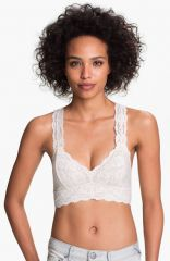Free People Galloon Lace Bralette in white at Nordstrom