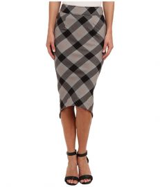 Free People Geometric Skirt Washed Black Combo at Zappos