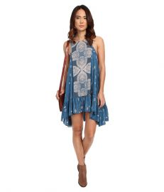Free People Into You Sprinted Slip Teal Combo at 6pm