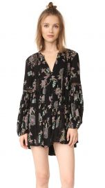 Free People Just The Two Of Us Printed Dress in Black at Shopbop
