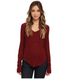 Free People Layering Me LS Burgundy at Zappos