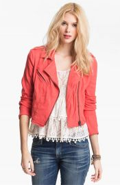 Free People Linen Moto Jacket at Nordstrom