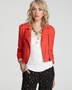 Free People Linen Moto Jacket at Bloomingdales at Bloomingdales