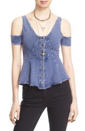 Free People Little House Cold Shoulder Top at Nordstrom