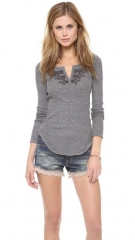 Free People Long Sleeve Battalion Top at Shopbop